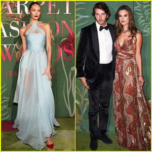 Candice Swanepoel, Alessandra Ambrosio & More Models Step Out for Green Carpet Fashion Awards!
