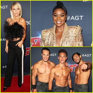 Julianne Hough Joins Shirtless Acrobats for 'Magic Mike' Performance on 'America's Got Talent' - Watch Here!