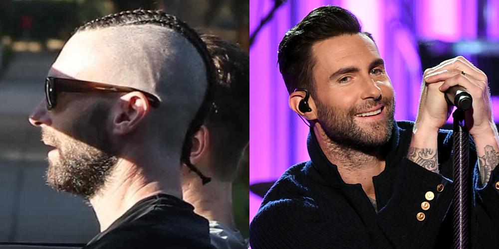 Adam Levine Sports Brand New Cornrow Braids In His Hair