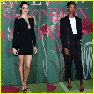 Shailene Woodley & Letitia Wright Go Glam in Black for Green Carpet Fashion Awards 2019