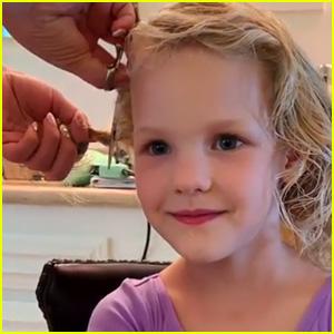 James Van Der Beek Shares Video of Young Daughter Shaving Her Head - Watch!