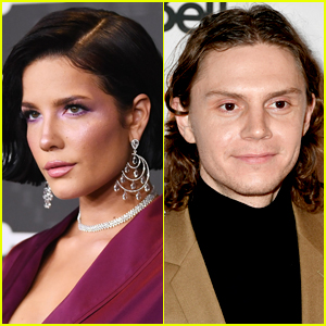 Halsey Playfully Touches Evan Peters Amid Romance Rumors