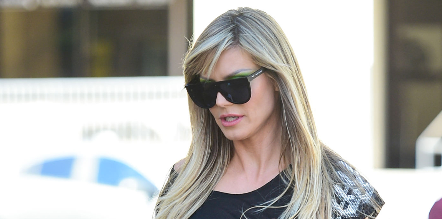 Heidi Klum Looks Sexy in Leather Pants While Stepping Out in L.A.