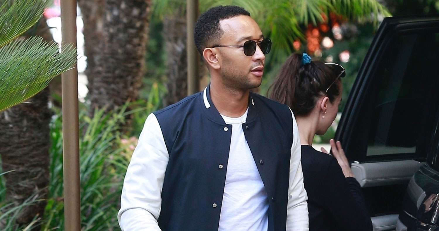 John Legend Heads To Work After Cute Piano Duet With Miles