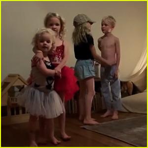 James Van Der Beek's Kids Adorably Recreate Their Dad's Disney Night 'DWTS' Performance - Watch!