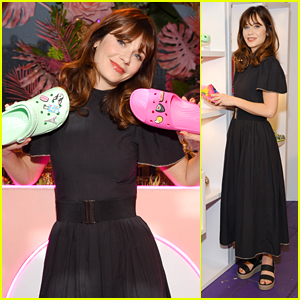 Zooey Deschanel Attends Crocs Spring/Summer 2020 Collection Preview in NYC