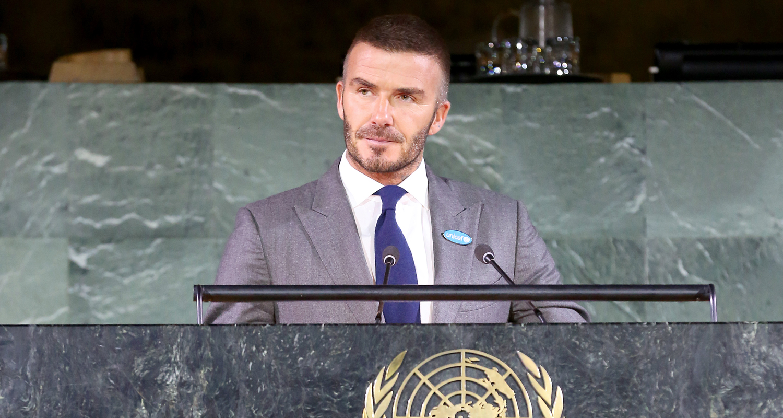 David Beckham Calls for Stronger Child Rights During World Children's Day Summit at UN!
