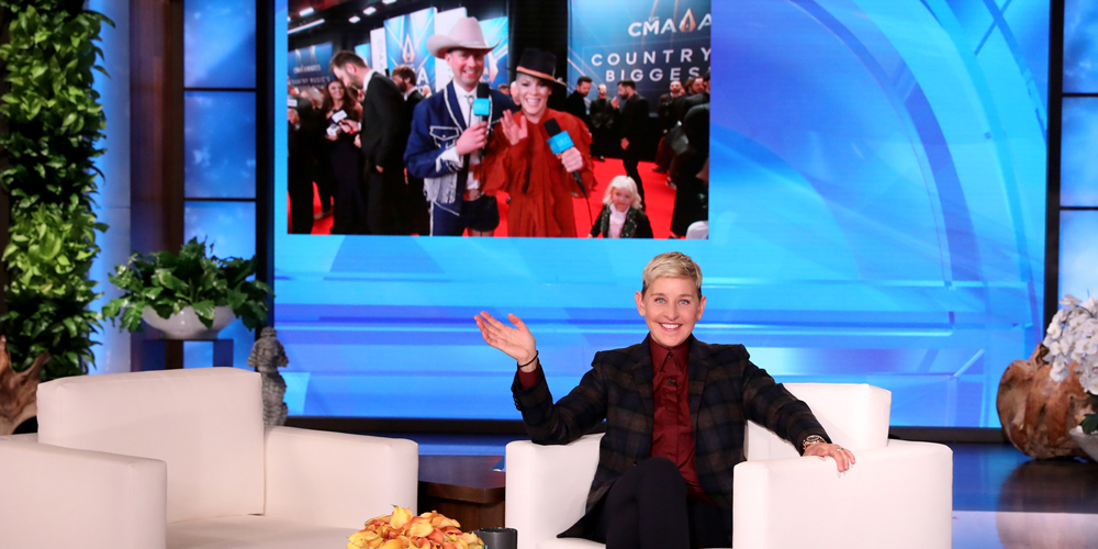 Pink Blasts 'Ellen Show' Producer Andy Zenor in the Face With Tequila at CMA Awards 2019 - Watch!