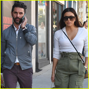 Eva Longoria & Husband Jose Baston Step Out to Do Some Shopping in Beverly Hills