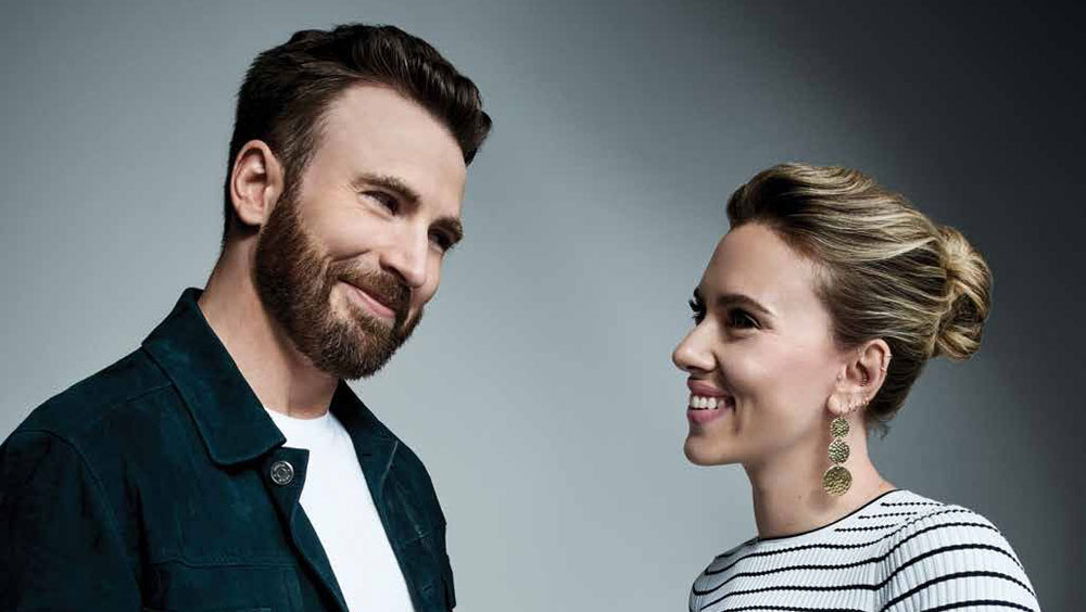 Chris Evans Talks to Scarlett Johansson About Returning to Marvel Universe & Captain America's Ending