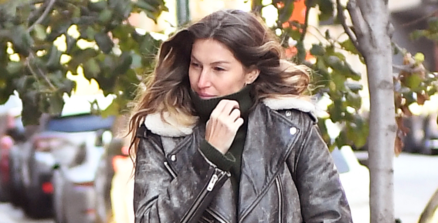 Gisele Bundchen Bundles Up for Rare Day Out in NYC - Just Jared