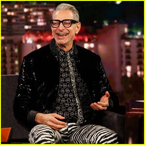 Jeff Goldblum Tells 'Kimmel' His Disney+ Series 'Is An Experience'!