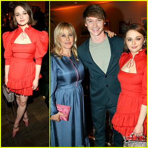Joey King Celebrates at Hulu's Holiday Party with 'The Act' Co-Stars