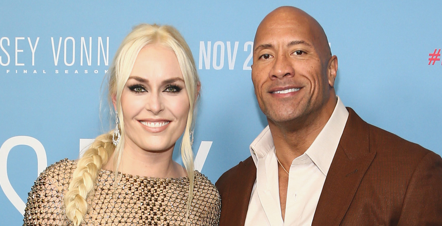 Dwayne Johnson Supports Lindsey Vonn at 'The Final Season' Premiere - Just Jared