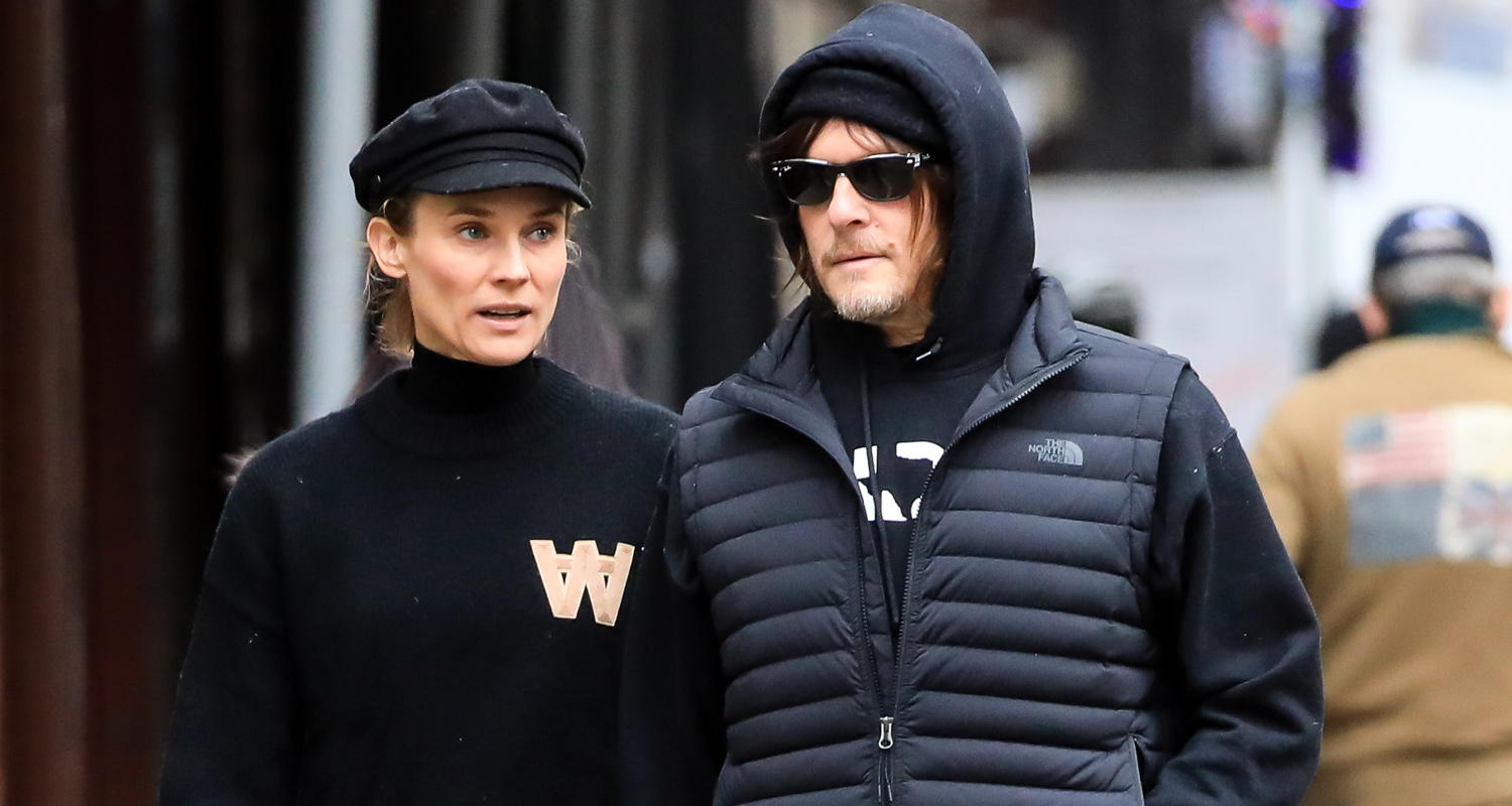 Norman Reedus & Diane Kruger Enjoy Their Holiday Downtime Together!