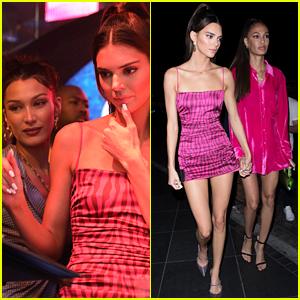 Kendall Jenner DJs & Parties With Bella Hadid & Joan Smalls at Art Basel!
