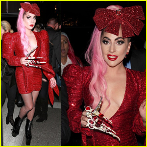 Lady Gaga Rocks Massive Finger Accessories at Haus Labs Pop-Up