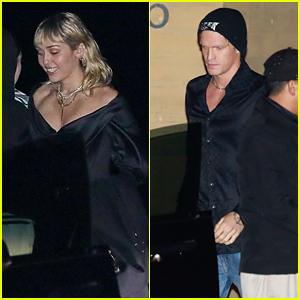 Miley Cyrus & Boyfriend Cody Simpson Grab Dinner With Friends in Malibu