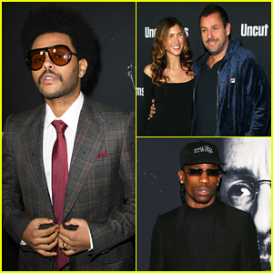 The Weeknd & 'Uncut Gems' Cast Get Support from Travis Scott & More at Hollywood Premiere!