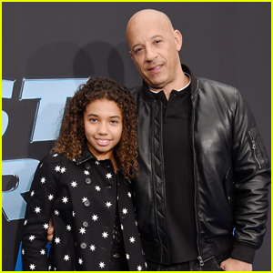 Vin Diesel Supports Daughter Similce at 'Fast & Furious: Spy Racers' World Premiere!