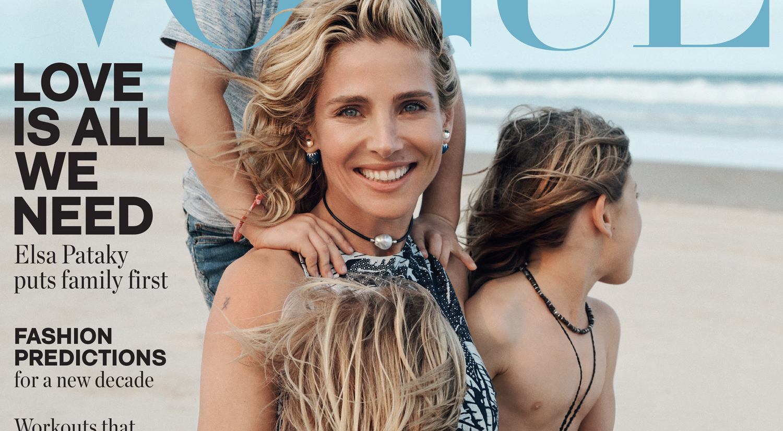 Elsa Pataky Covers Vogue Australia with Daughter India & Sons Tristan & Sasha!