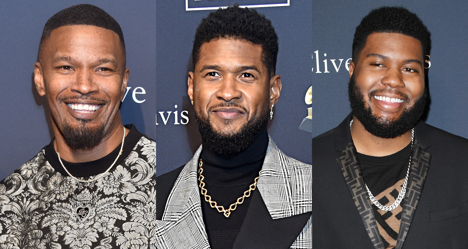 Jamie Foxx, Usher, & Khalid Support Diddy at Pre-Grammys Party!