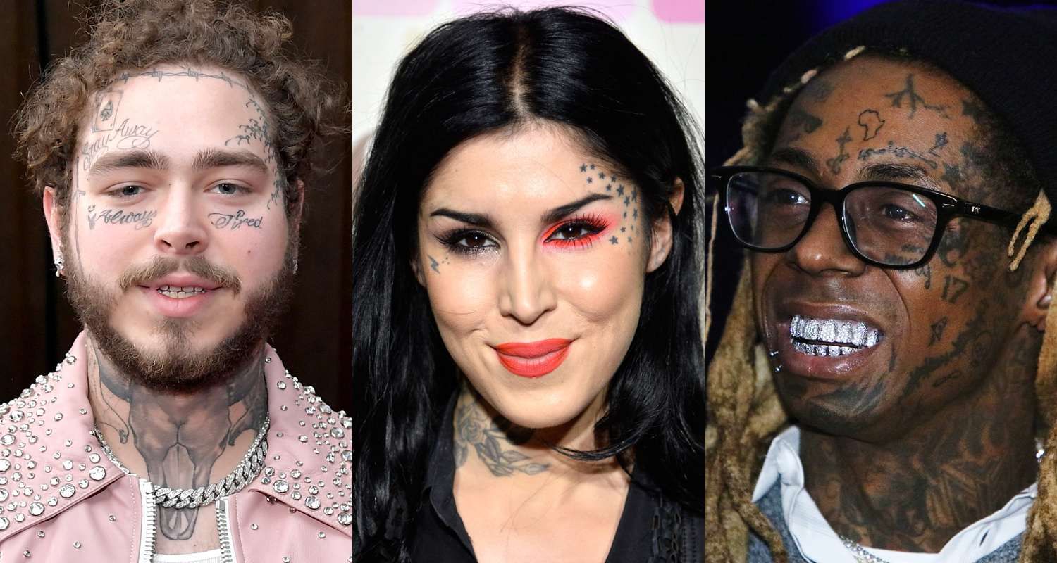 These Celebrities All Have Face Tattoos – Check Them Out!