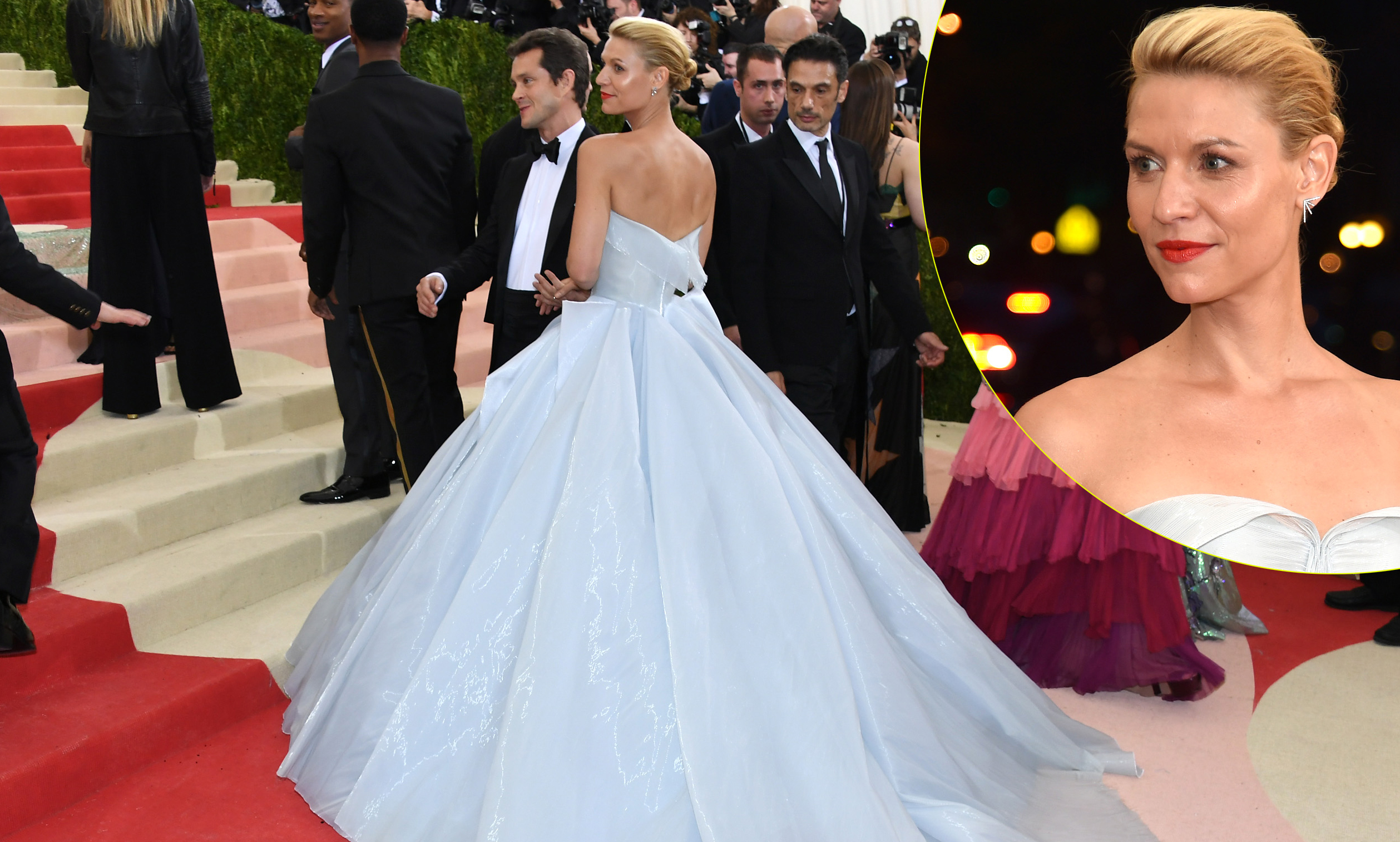Claire Danes Reveals Which Celeb Helped Her Use the Bathroom at 2016 Met Gala