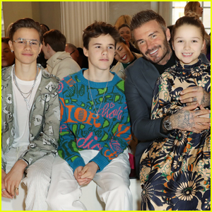 The Beckham Kids Supported Mom Victoria at Her Fashion Show - See All The Pics!