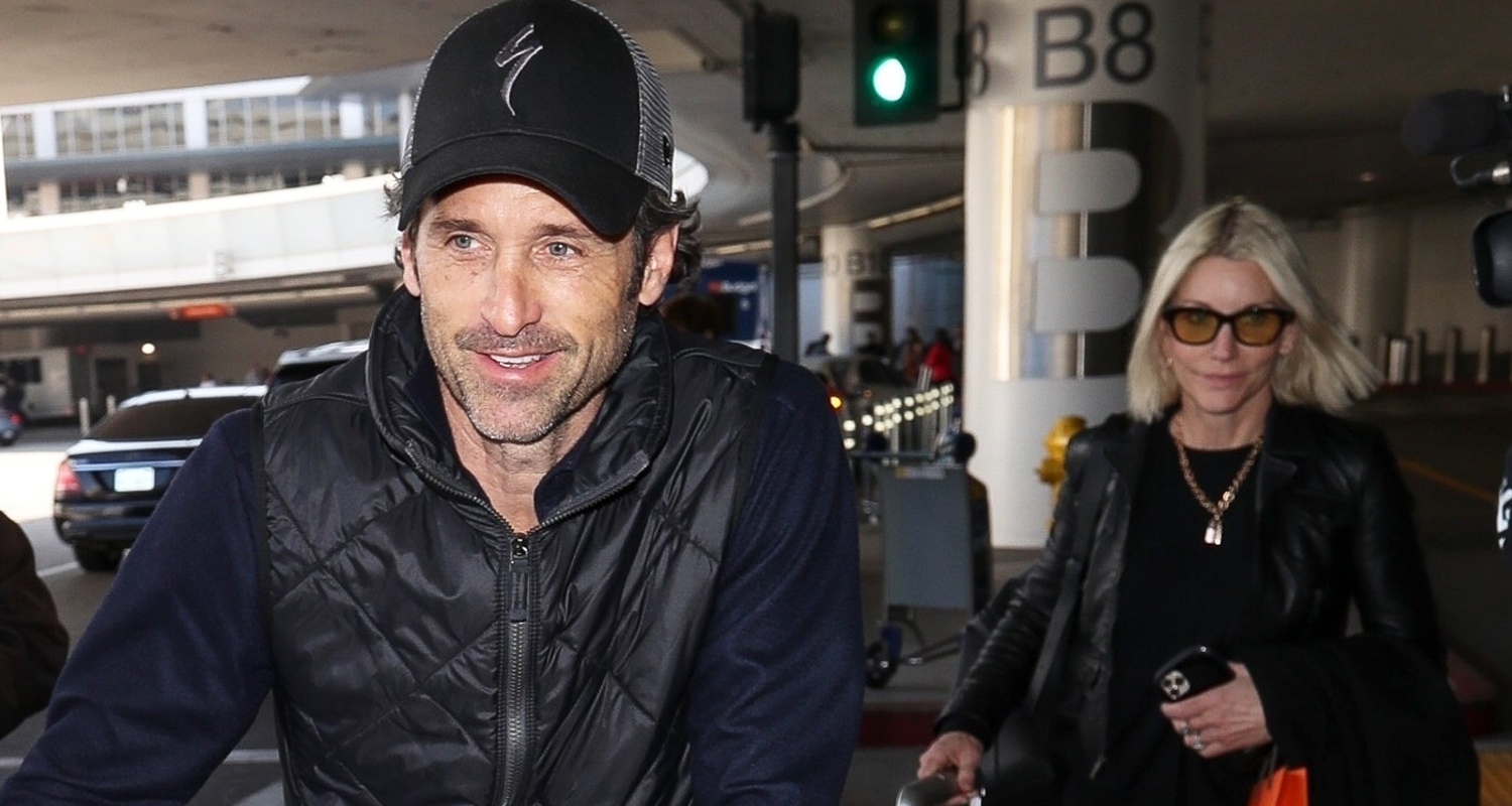 Patrick Dempsey & Wife Jillian Touch Down at LAX Together!