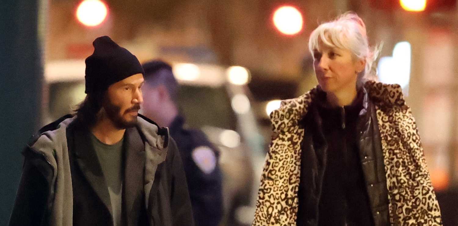 Keanu Reeves is Joined by Girlfriend Alexandra Grant on Set of 'The Matrix 4′