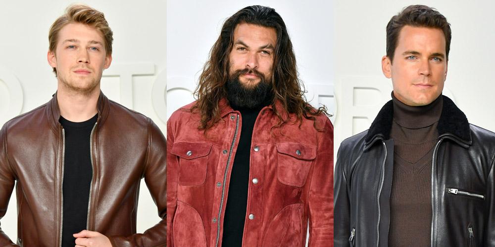 Jason Momoa, Joe Alwyn & Matt Bomer Looked Really Good at Tom Ford's Fashion Show