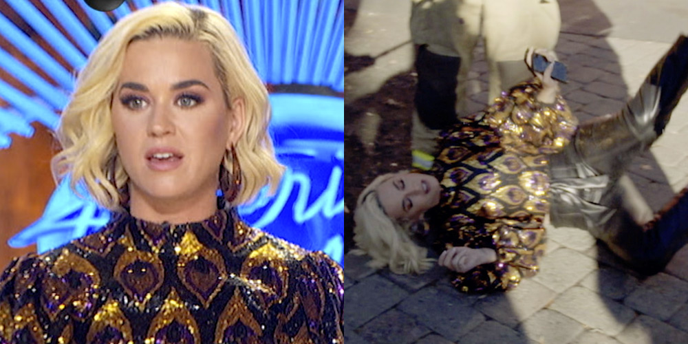 Katy Perry Falls Over After Gas Leak on 'American Idol' Set (Video)
