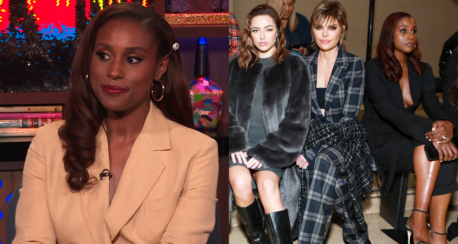 Issa Rae Reacts To Now Viral Fashion Week Photo with Lisa Rinna & Her Daughters – Watch Here!
