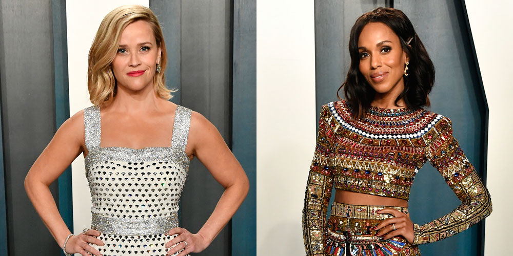 New Co-Stars Reese Witherspoon & Kerry Washington Glam Up for Vanity Fair Oscar Party 2020!
