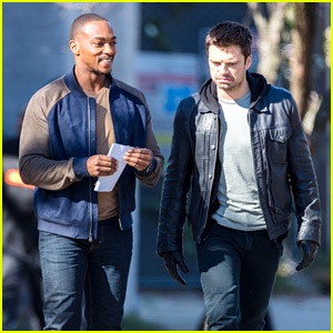 Sebastian Stan & Anthony Mackie Continue Work on 'Falcon & The Winter Soldier'