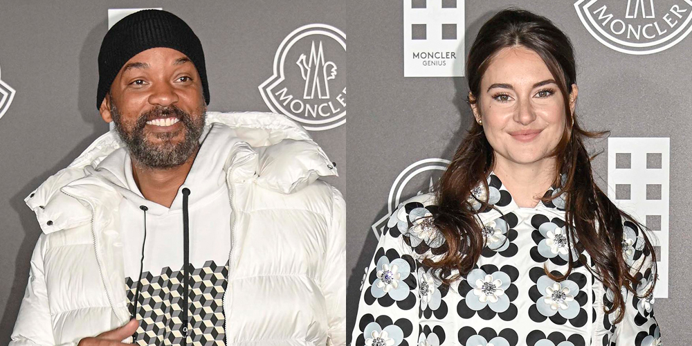 Shailene Woodley & Will Smith Step Out For The Moncler Fashion Show in Milan
