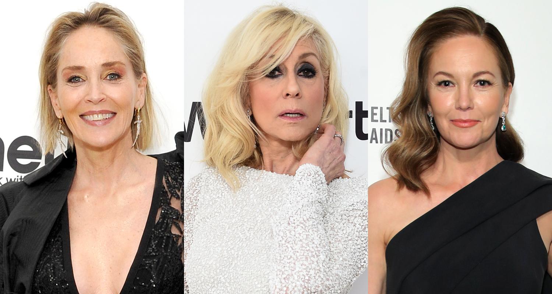 Sharon Stone, Judith Light, & Diane Lane Arrive in Style for Elton John Oscar Party 2020