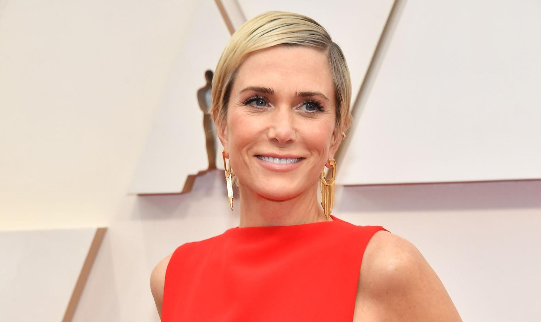 Kristen Wiig Wears Bright Red Ruffle Dress at Oscars 2020