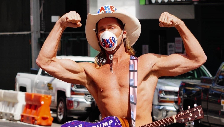The Naked Cowboy! | Kendall Bridges