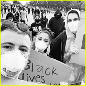 Ariana Grande Joins George Floyd Protests With Boyfriend Dalton Gomez & Best Friend Doug Middlebrook