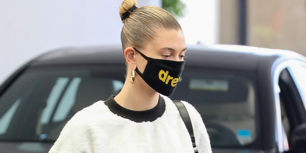 Hailey Bieber Wears Drew House Mask While Heading To Doctor's Appointment