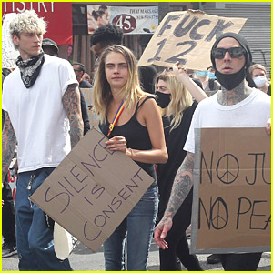 Cara Delevingne Joins Celeb Friends While Protesting in L.A.