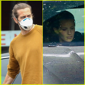 Jake Gyllenhaal Picks Up Dinner While Girlfriend Jeanne Cadieu Sits in the Car