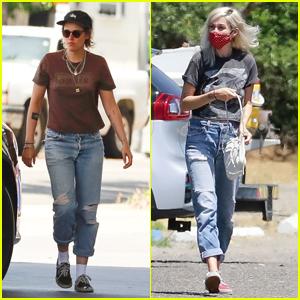 Kristen Stewart et sa petite amie Dylan Meyer prennent des collations ensemble sur une course de station-service
