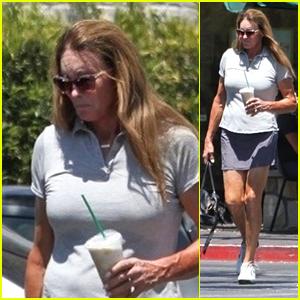 Caitlyn Jenner Makes a Starbucks Run in LA