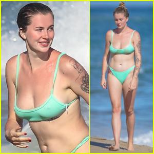 Ireland Baldwin Dons Mint-Green Bikini for Day at the Beach!