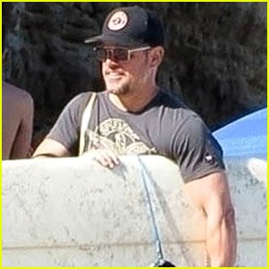 Matt Damon Goes Surfing at the