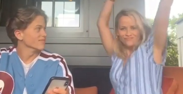 Reese Witherspoon Embarrasses Son Deacon Phillippe While Celebrating His Debut Song – Watch!