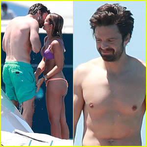 Shirtless Sebastian Stan Packs On PDA with New Girlfriend Alejandra Onieva in Ibiza!